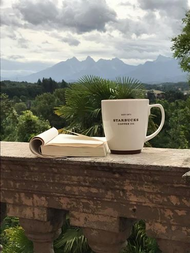 kellee's shot of apuan alps and coffee