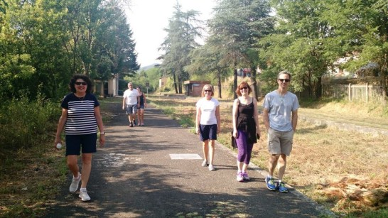 via francigena walk during retreat 2